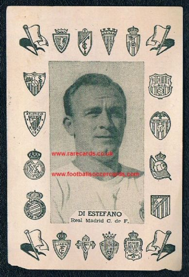 1956-57 Rollan comic packet issue Di Stefano